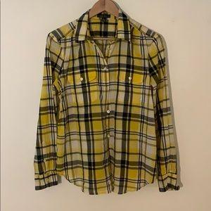 Yellow plaid shirt